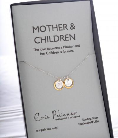 mother children initials box