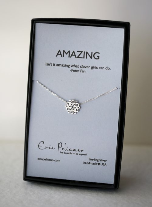 graduation gift, silver necklace