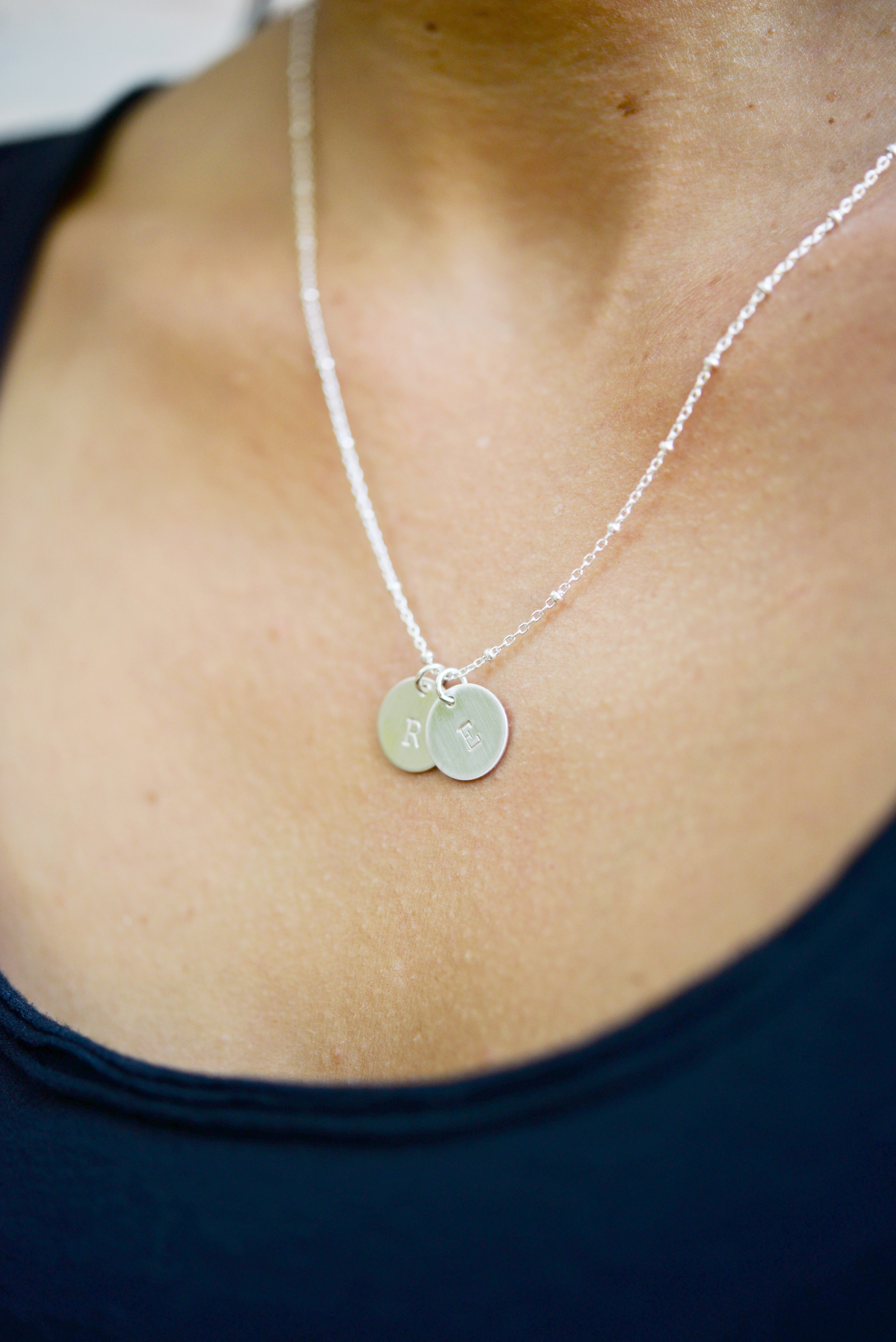Sterling Silver Initials Necklace Shop Erin Pelicano Jewelry