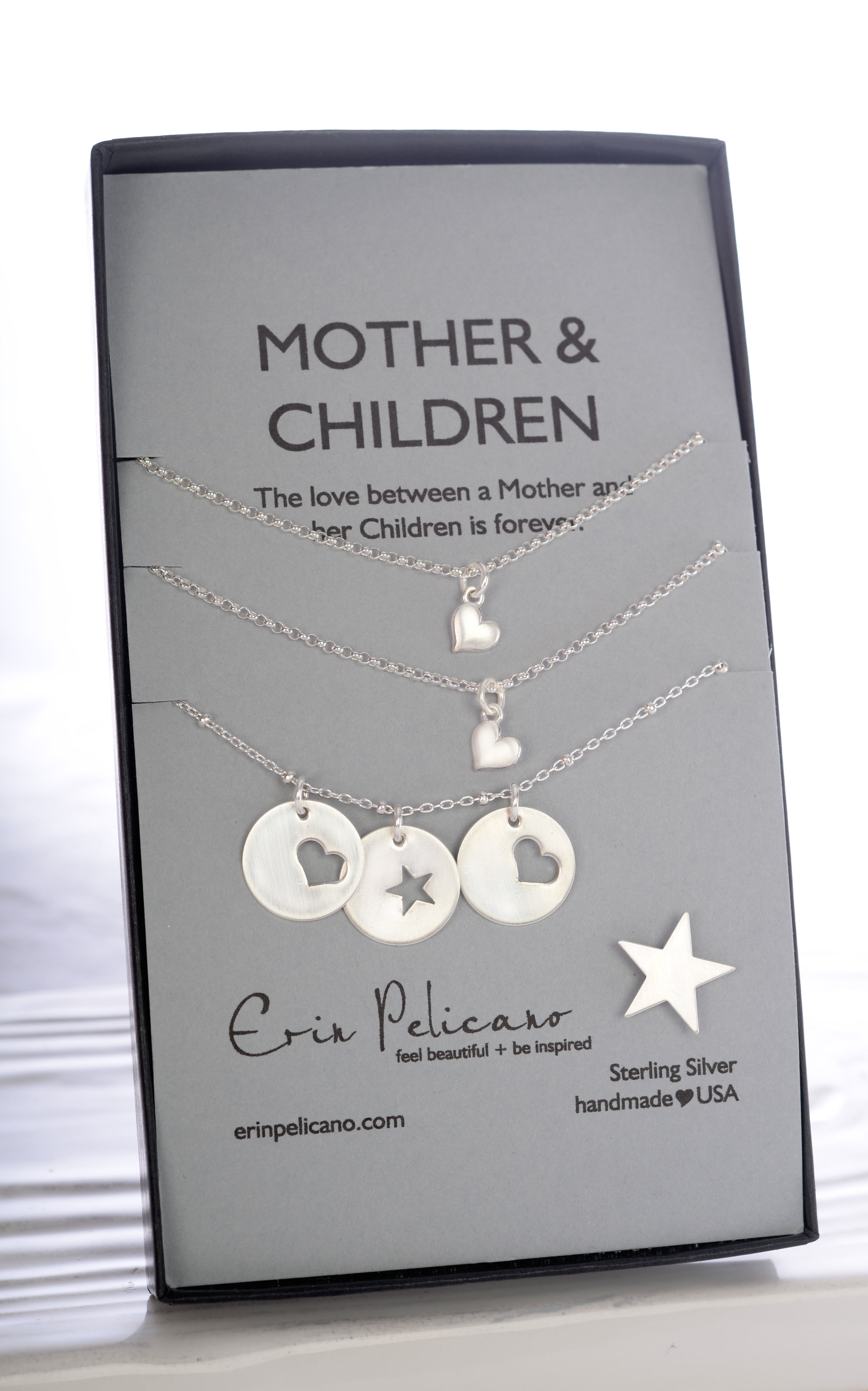 Sterling Mother Amp Children Charm Necklace Erin Pelicano