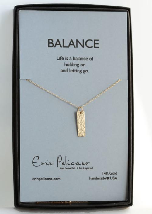 Balance Necklace 14k gold retirement gift