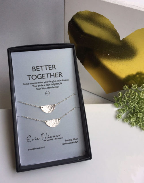 Better Together sister friends necklaces