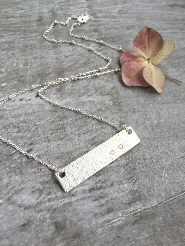 Miscarriage remembrance necklace erin pelicano jewelry miscarriage remembrance necklace personalized bar necklace aloadofball Choice Image