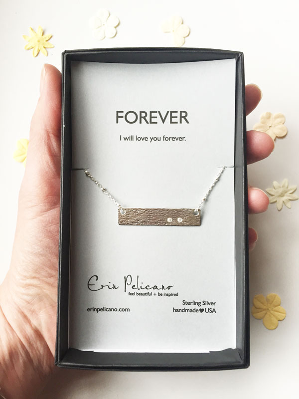 miscarriage remembrance necklace, personalized bar necklace