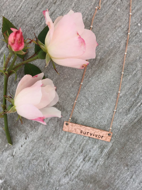 Survivor Jewelry, Breast Cancer Awareness Necklace