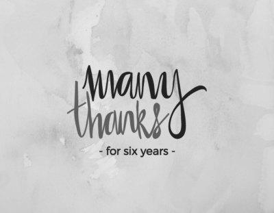 Thank you for six years