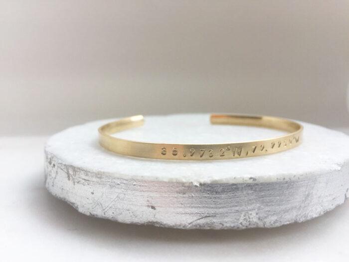 coordinate 14k Fine gold Cuff bracelet