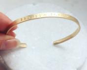 Personalized 14k gold Cuff bracelet