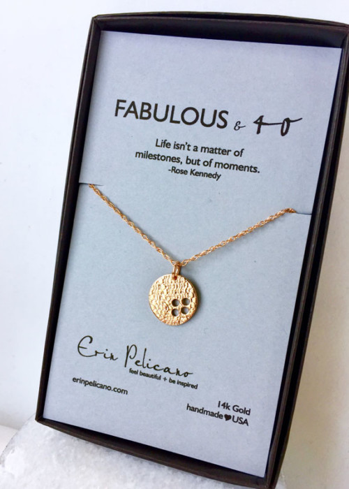 40th birthday gift rose gold fab 40 necklace