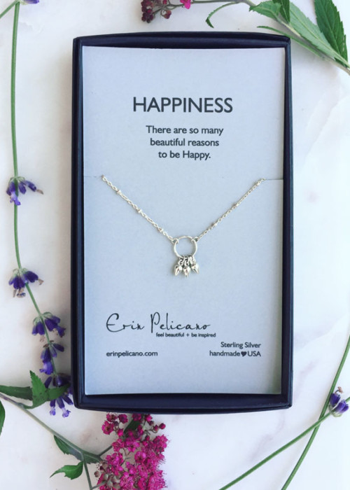 Bridesmaid Jewelry Gift Happiness Necklace