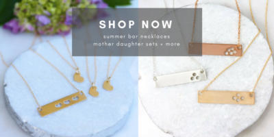 Gold Bar Necklace Sets Silver Bar Necklaces