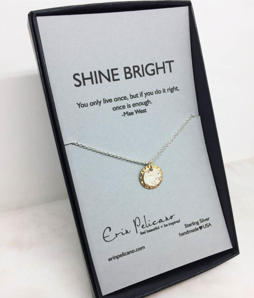 Shine Bright Solar Eclipse necklace made in USA