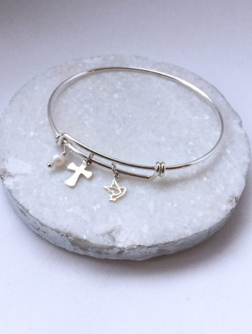 Faith Bangle Bracelet, Cross Bracelet, Cross Jewelry