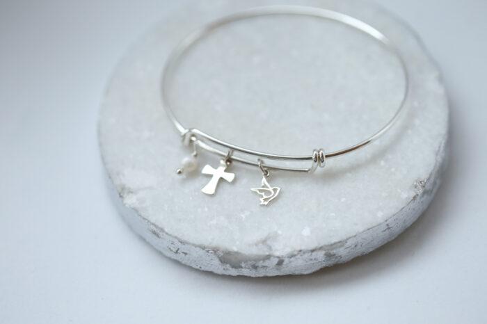 Cross Bangle Bracelet, Faith Jewelry