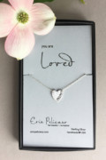 Love Heart Necklace, Personalized Jewelry