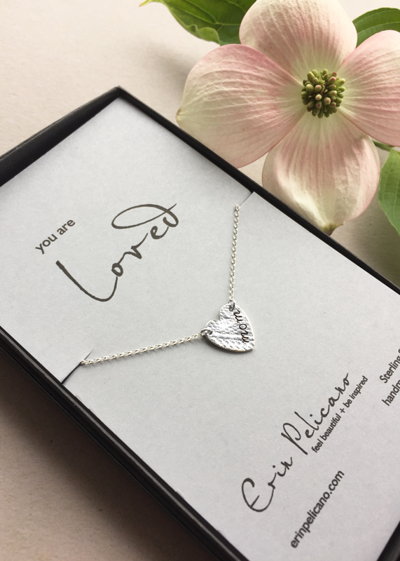 Mom Necklace, Personalized Heart Jewelry
