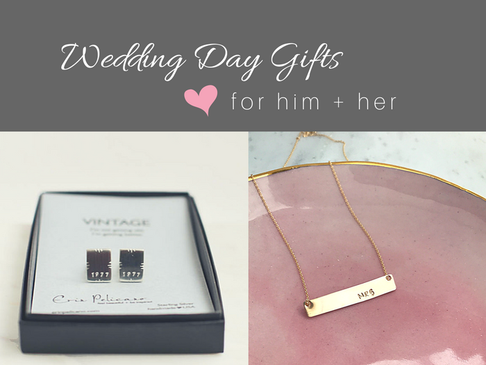 Bride and Groom Wedding Gift Exchange Ideas | Erin Pelicano
