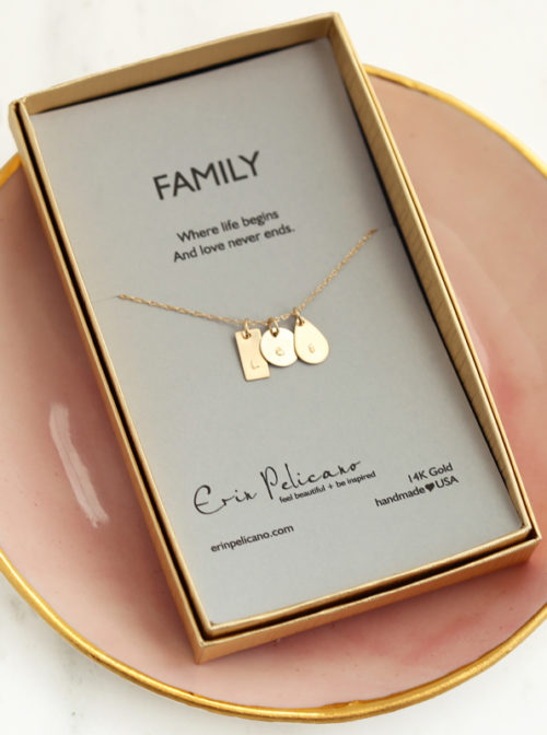 gold mom initial jewelry, 14k gold initial charms,