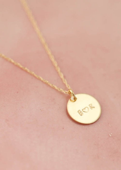 personalized love necklace, Mommy Tag Necklace