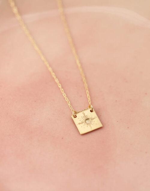 gold wisdom necklace, 14k gold inspirational jewelry, retirement gift, wisdom jewelry