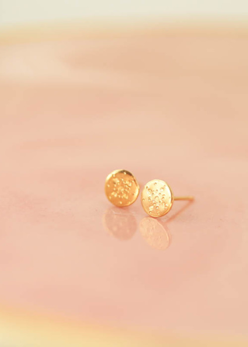 14k gold studs, gold patterned studs, mom daughter jewelry
