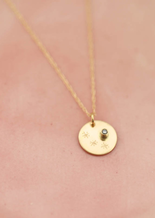 gold eternity necklace, star jewelry, grief gift