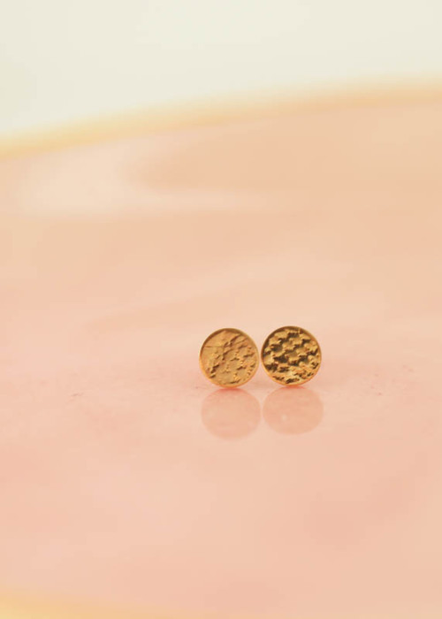 gold stud earrings, mom daughter jewelry