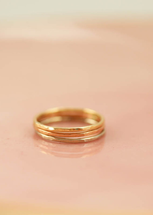 gold stacking rings, mom rings, family jewelry