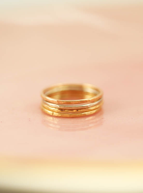mom rings, family jewelry, gold stacking rings