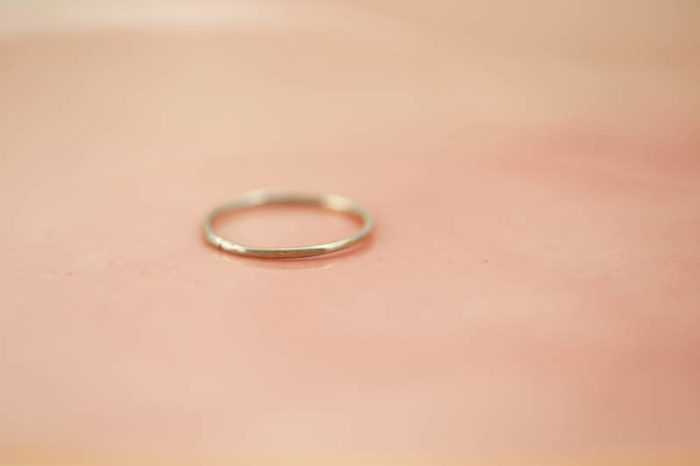2 children ring stack, hammered gold rings, mom rings