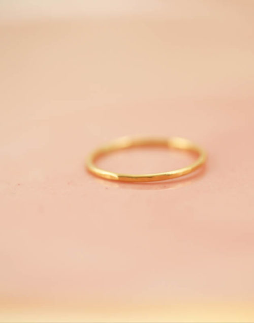 gold stacking ring, family jewelry