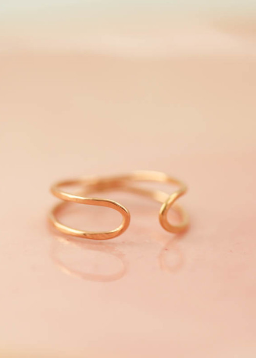 gold infinity ring, rose gold eternity ring, stacking rings