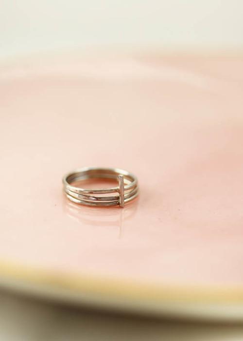 cross ring, holy trinity jewelry, gold cross ring