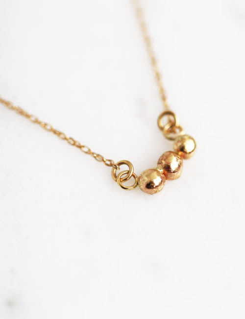 Recycled Gold Nugget Necklace
