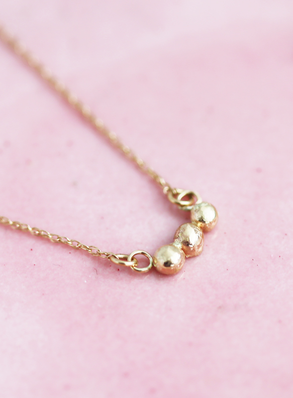 14k gold birthday necklace