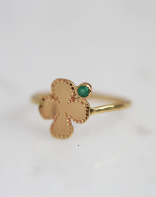 gold clover ring, lucky jewelry