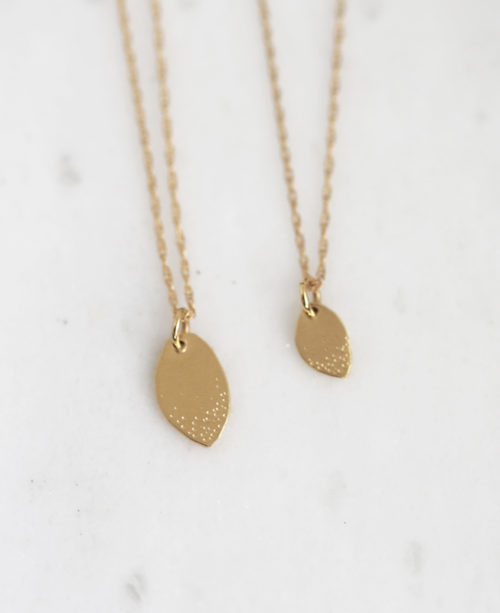 Mom Daughter Gold Family Tree necklace set