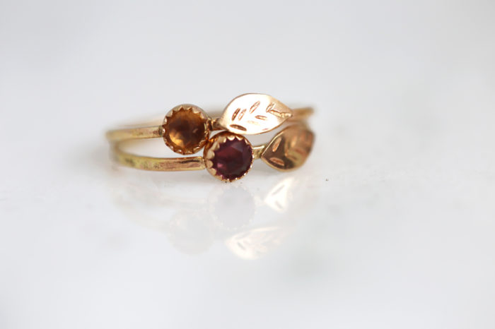 gold flower ring, flower girl jewelry, bridesmaid gift