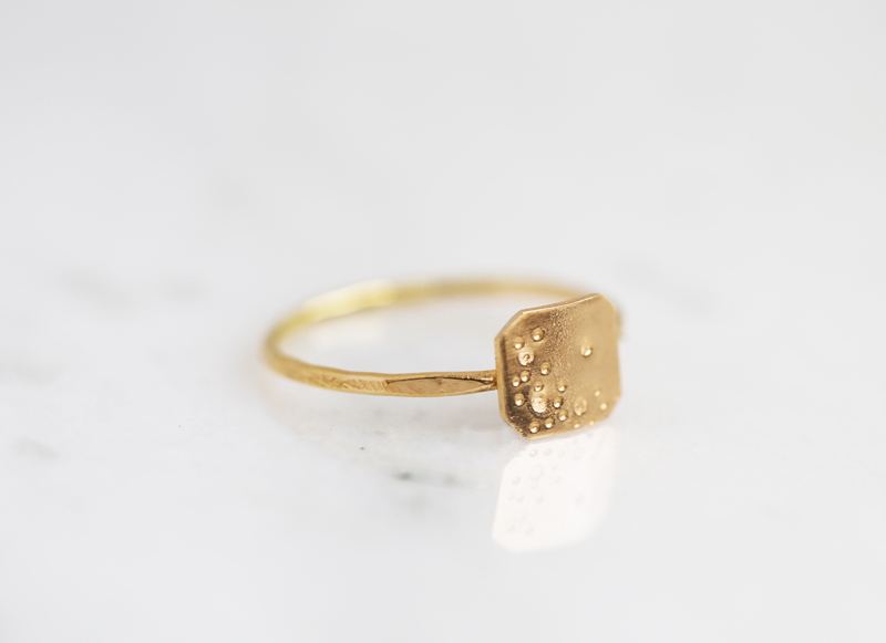 gold friend ring, rose gold bff jewelry