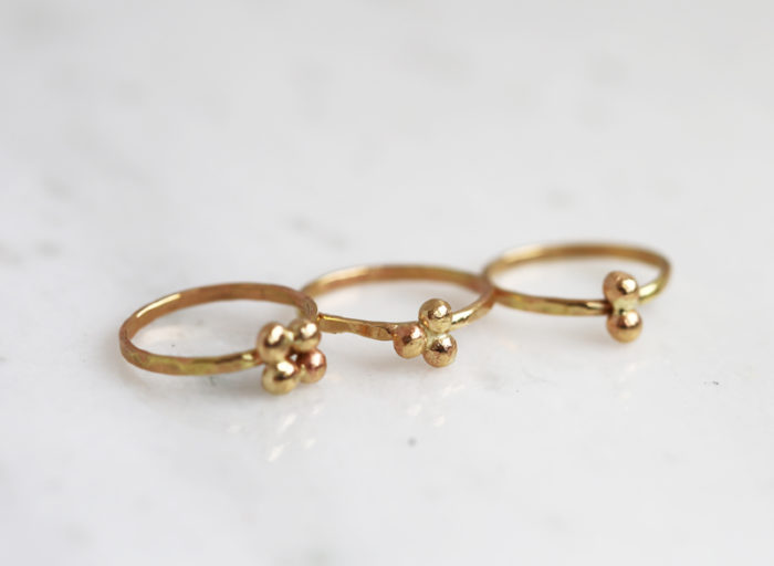gold nugget jewelry, gold dot stacking ring