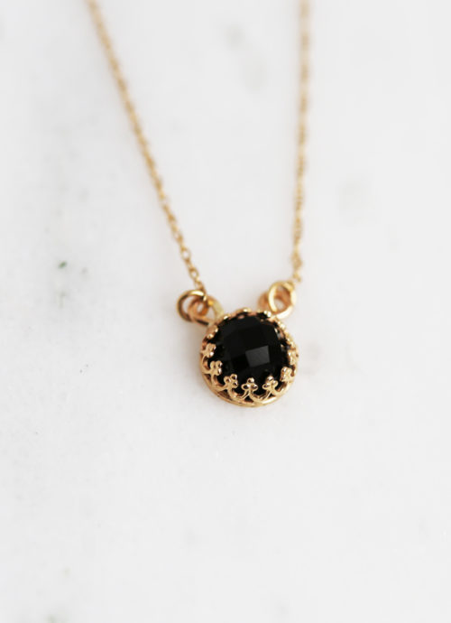 Gold Onyx Strength Necklace