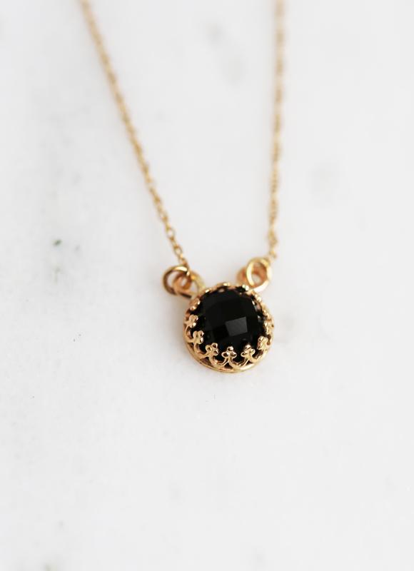 Gold Onyx Strength Necklace