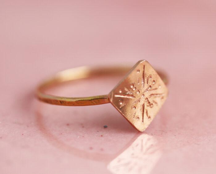 strength ring, strength jewelry, gold inspirational jewelry