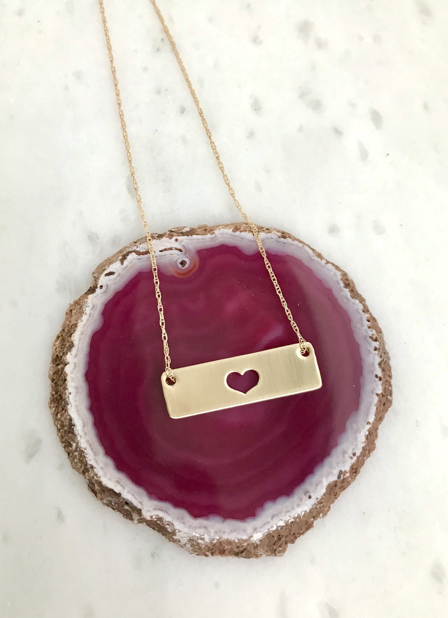 gold heart necklace, anniversary gift