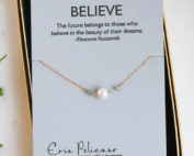 diamond and pearl, inspiration necklace