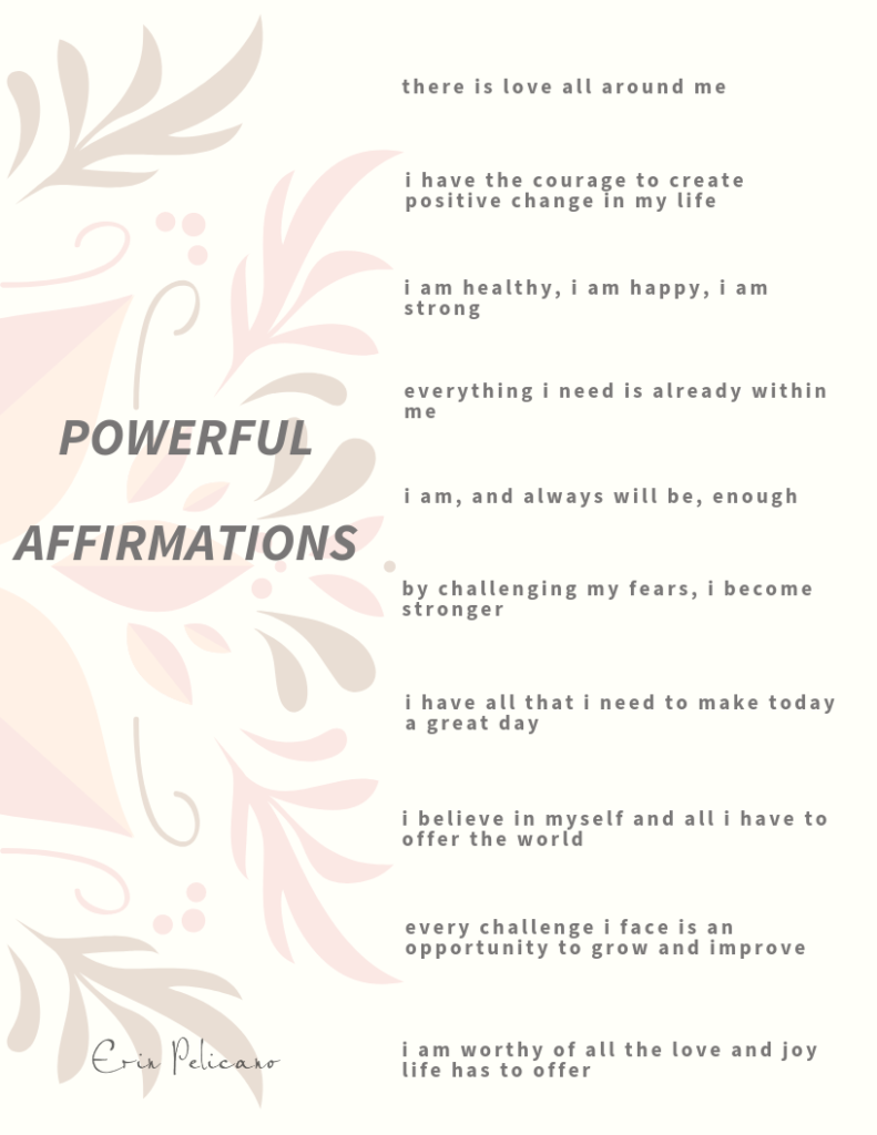 10 powerful affirmations