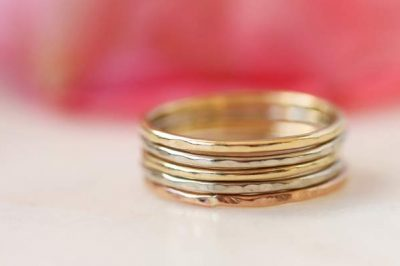 gold mothers ring, stacking rings