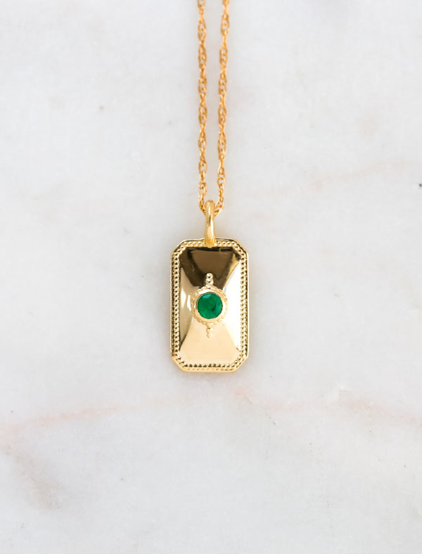 peridot, gold necklace, joy necklace