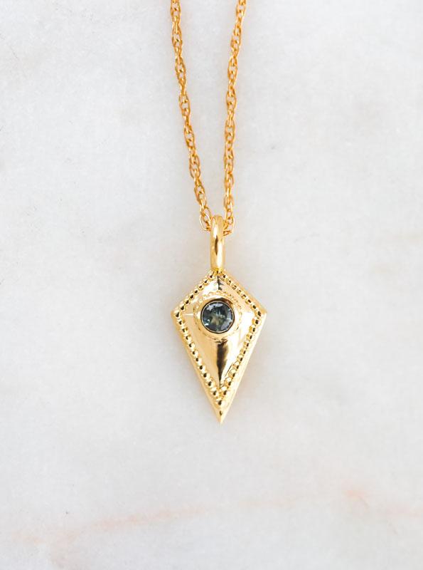sapphire necklace, montana sapphire, wisdom jewelry